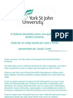 PPoint Presentation DV Seminar Portuguese