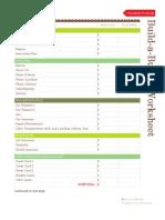 Pretty Budget Worksheet