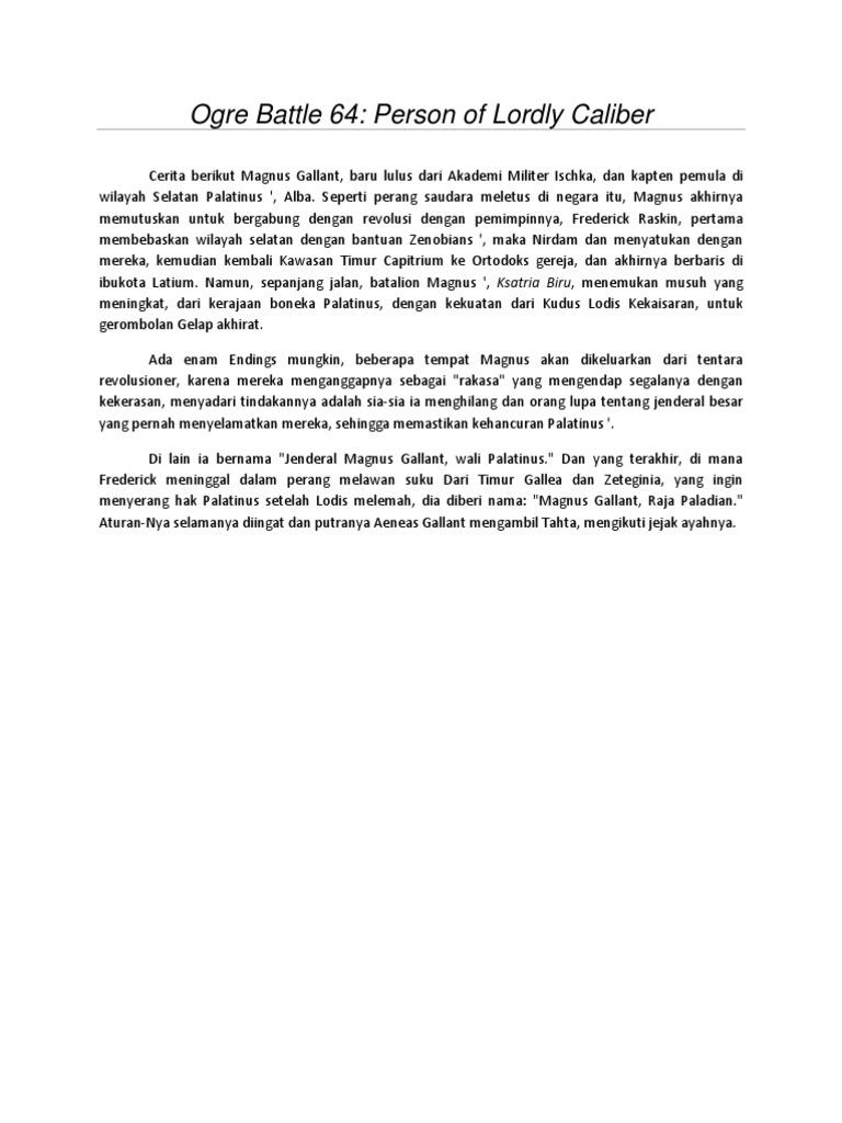 Panduan Ogre Battle 64: Person of Lordly Caliber   Penyihir (Fantasi