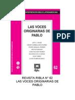 RIBLA. LAS VOCES ORIGINARIAS DE PABLO
