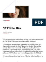 19-12-12 NYPD for Hire