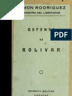 Simon Rodriguez - Defensa de Bolivar