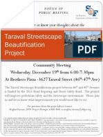 Taraval Streetscape - Dec 2012