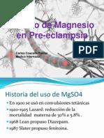 Sulfato de Magnesio en Pre eclampsia