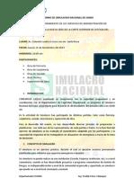 Informe de Simulacro Nacional de Sismo 15 Nov 2012