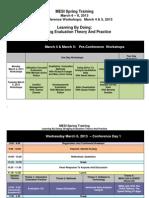 MESI Spring Training Schedule 2013.Dec 2012