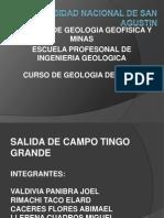 Geologia de Minas Tingo