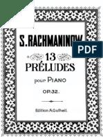 13 Préludes pour piano - S. Rachmaninov