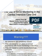 SVO2 Monitoring After Congenital Heart Surgery