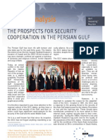 The prospects for security cooperation in the Persian Gulf