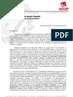 Carta Al Presidente de La Comunidad de Madrid, Con Los Problemas de Alcala