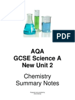 AQA Science A Chemistry notes