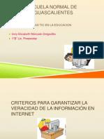 Criterios Para Evaluar La Verasdidad de La Informacion en Internet