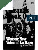 Chicanas Speak Out Women New Voice of La Raza by Mirta Vidal New York 1971