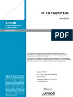 NF en 13480 2 AC6 Tuyauterie Industrielle Metallique Materiaux