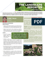 December 2012 Landscape Reporter Newsletter