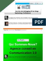 Blogs et Micro Blogging par Gregory Pouy et Thierry Debarnot