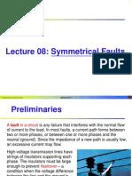 Lecture 08 - Symmetrical Faults
