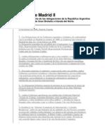 Acuerdo de Madrid II Declaración Conjunta de las delegaciones de la República Argentina y del Reino Unido de Gran Bretaña e Irlanda del Norte.