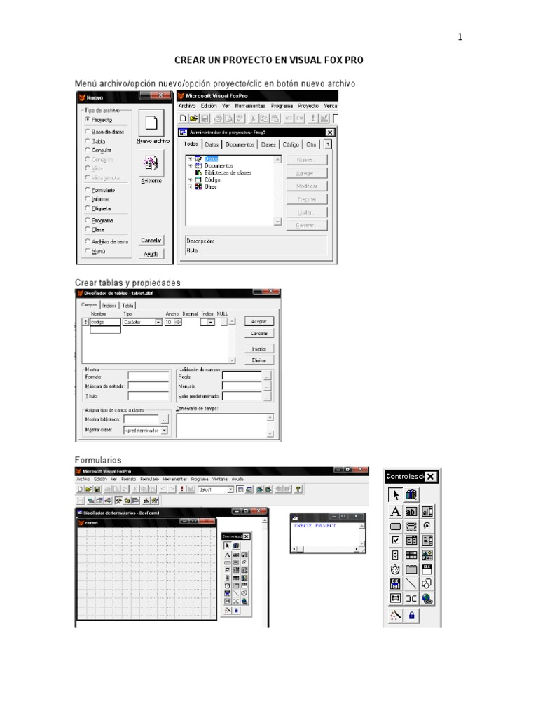 Menú archivo/opción nuevo/opción proyecto/clic en botón
