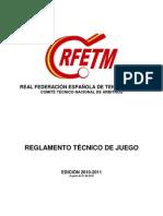 Reglamento Tecnico de Juego 2010-2011