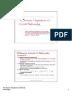 30 - Roman Adaptations of Greek Philosophy[1]