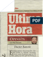 Miquel Barcelo, doctor h.c. de la UPF