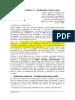 TEORÍAS DEL CURRÍCULO Y CONCEPCIONES CURRICULARES