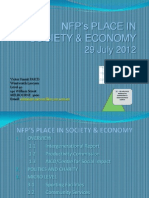NFP's PLACE IN SOCIETY & ECONOMY presented by Victor Hamit