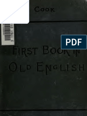 A First Book in Old English Grammar Reader Notes and