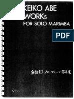 Keiko Abe Works for Solo Marimba