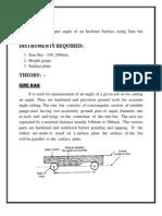 metrology sine bar lab manual