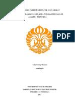 Penulisan Dan Presentasi Ilmiah - Partisipasi Politik Dalam Pilkada Putaran Pertama Jakarta 2012
