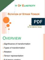 Rotation of Strain Tensor