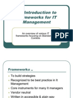 An Introduction to Frameworks for IT Management