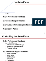 control of sales force