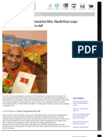 It's Official! Vegetarian Centenarians Are Happier Healthier Than Aging Meat-eaters - Mrs. Nasib Kaur Surpasses 100 Years Old Eating Plant-based Diet and Loving It - Majid Ali, Nir Barzilai - Non-LowCarb Non-Paleo Longevity Diet