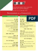 Programme Séminaire renforcement des femmes du CADTM Afrique DEF