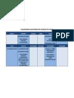 Calendario Sanitario de Ovinos en Chile Resumen