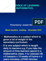 Mwea Teachers Meeting - November 2012