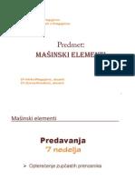 Masinski Elementi - 07a Opterecenje Zupcanika