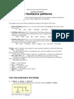 10 Sentence Patterns