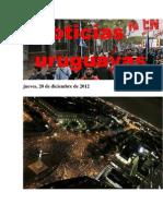 Noticias Uruguayas jueves 20 de diciembre del 2012
