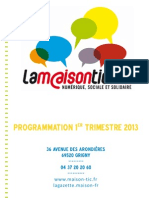 Programmation 1e Trim 2013