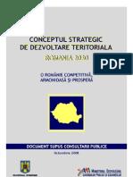 Conceptul strategic de dezvoltare teritoriala