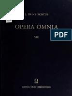 Johannes Duns Scotus Opera Omnia Volume 8
