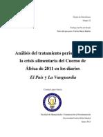 Análisis del tratamiento periodístico de la crisis alimentaria del Cuerno de África de 2011 en los diarios El País y La Vanguardia