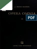 Johannes Duns Scotus Opera Omnia Volume 9