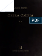 Johannes Duns Scotus Opera Omnia Volume 5, part 1