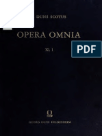Johannes Duns Scotus Opera Omnia Volume 11, part 1